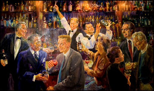 El Gaucho The Bar Painting