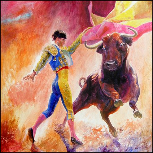 El Gaucho Bull Fighter Painting
