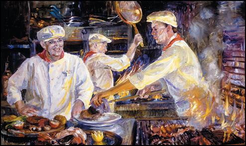 El Gaucho Chefs Painting