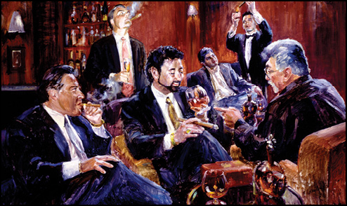 El Gaucho Cigar Room Painting