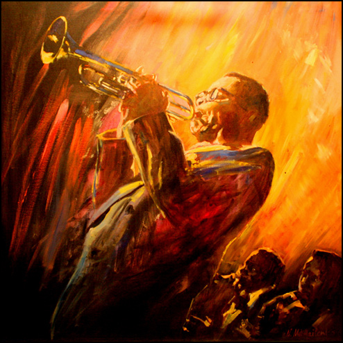 El Gaucho Dizzy Gillespie Painting