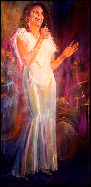 El Gaucho Lady Singer Painting