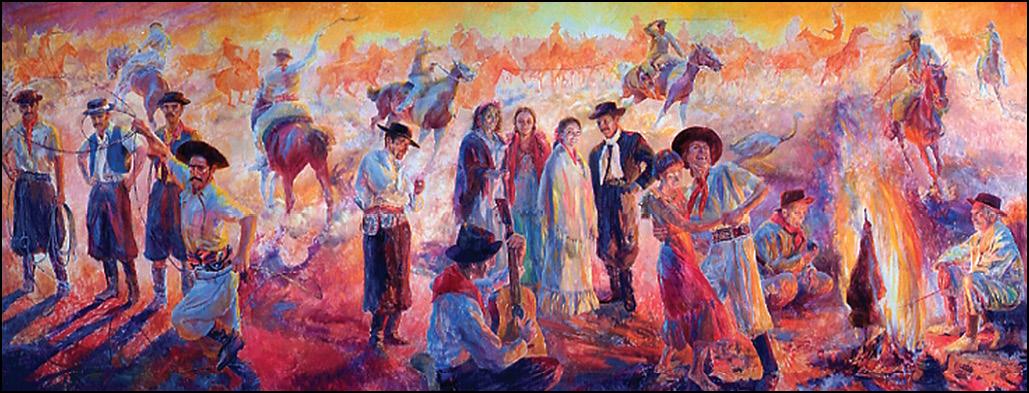 El Gaucho Pampas Painting