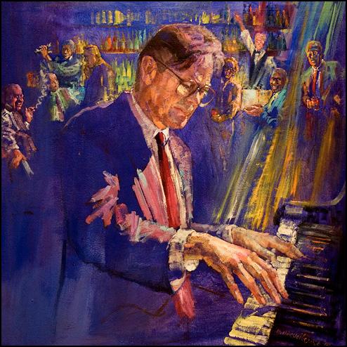 El Gaucho Piano Player Painting